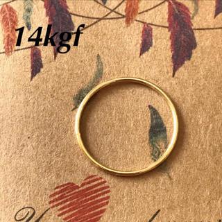 14kgf シンプル ゴールド リング ピンキーリング 4号 エテ アガット(リング(指輪))