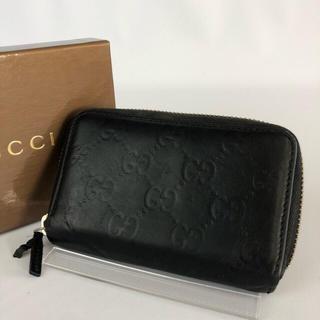 グッチ(Gucci)の正規品 GUCCI グッチ シマ ブラック レザー 小銭入れ GR2-70 (コインケース/小銭入れ)