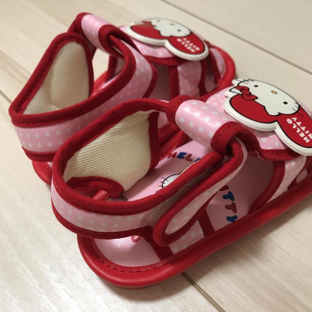 サンリオ(サンリオ)のハローキティ サンダル13cm 新品 キッズ/ベビー/マタニティのベビー靴/シューズ(~14cm)(サンダル)の商品写真