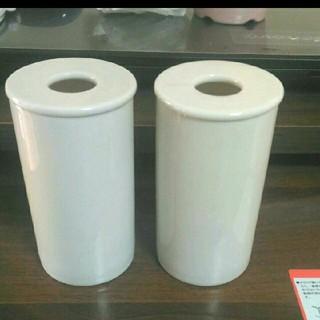 ムジルシリョウヒン(MUJI (無印良品))の無印良品 陶器ポット 2つセット美品(アロマポット/アロマランプ/芳香器)