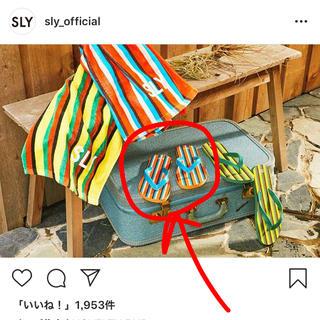 SLY - sly ビーチサンダル38
