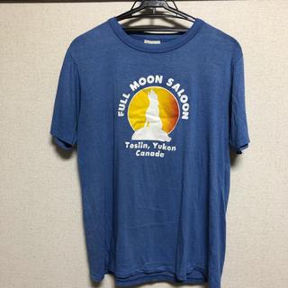 エバーグリーン(EVERGREEN)の【送料無料】Ever green 古着Tシャツ L 青 ブルー ワンコイン(Tシャツ/カットソー(半袖/袖なし))