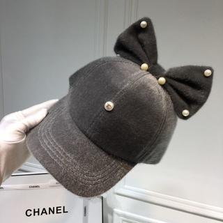 de9240a524c0 シャネル(CHANEL)のCHANEL シャネル キャップ 可愛い帽子 グレー(キャップ)