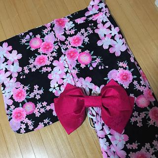 シマムラ(しまむら)の浴衣 花柄 帯 2セット(浴衣)