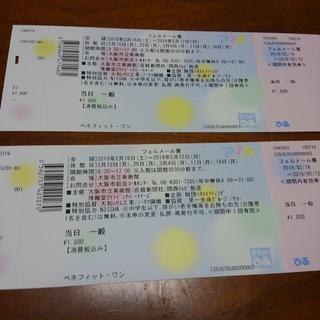 フェルメール展チケット2枚 大阪市立美術館(その他)