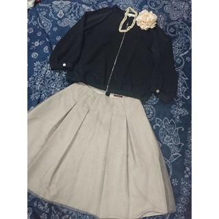 ジユウク(自由区)の自由区 ジップアップ ジャケット AMACA 素敵なスカート スーツとして♪M(スーツ)