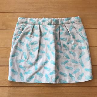スイートルーム(SweetRoom)の美品♡sweetroom リトルデイシー トロピカル柄スカート 2T 95cm (スカート)