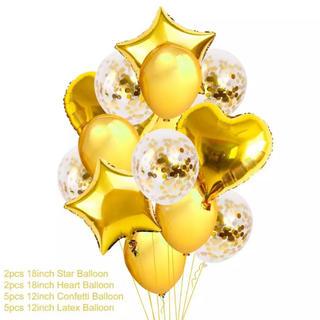 人気 ゴールド ピンク シルバー ブルー メタルバルーン 誕生日 インスタ 風船(フォトフレーム)