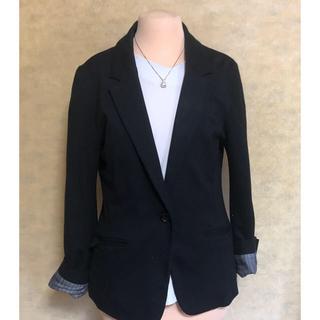 黒テーラードジャケット(テーラードジャケット)