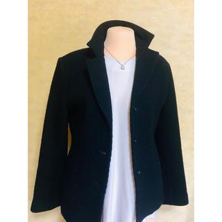 黒シンプルジャケットコート(スプリングコート)