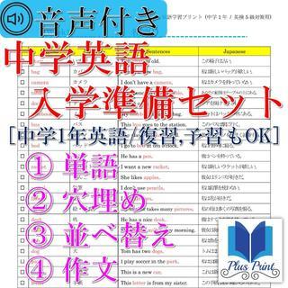 英語学習プリントセット(中学1年生)【13】(語学/参考書)