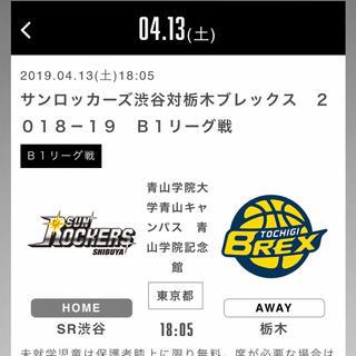 .04.13(土)サンロッカーズ渋谷対栃木ブレックス 1階指定アウエー(バスケットボール)