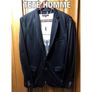 テットオム(TETE HOMME)のテットオム テーラードジャケット ブラック 黒 高級感(テーラードジャケット)