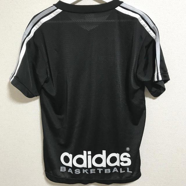 adidas(アディダス)の★美品★90s アディダスオリジナルス Tシャツ デサント製 黒 メンズ バスケ メンズのトップス(Tシャツ/カットソー(半袖/袖なし))の商品写真