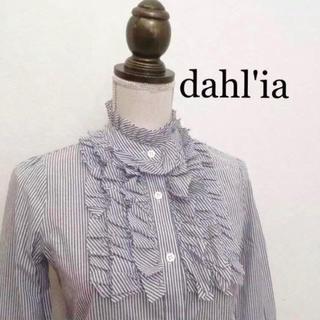 ダリア(Dahlia)のdahl'ia フリルブラウス ダリア ストライプ(シャツ/ブラウス(長袖/七分))