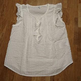 ユニクロ(UNIQLO)のフレンチスリーブシャツ(ブラウス)