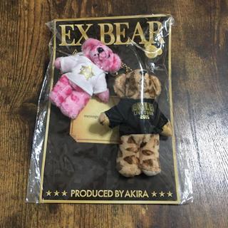 エグザイル(EXILE)の新品未開封*EX BEAR/AKIRA/ピンク&ブラウン(ミュージシャン)