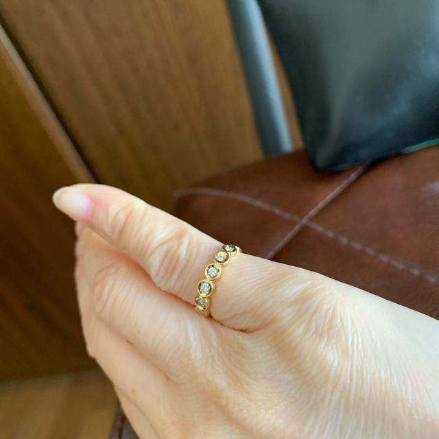 ☆さくらこ様専用です。お値下げK18イエローゴールドダイヤピンキーリング レディースのアクセサリー(リング(指輪))の商品写真
