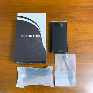 アンドロイド(ANDROID)のMode 1 RETRO ブラック SIMフリースマホ ガラホ(携帯電話本体)