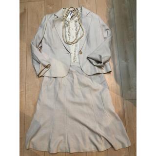 入学式 ツイードスーツ 15号 大きいサイズ 薄ピンク(スーツ)
