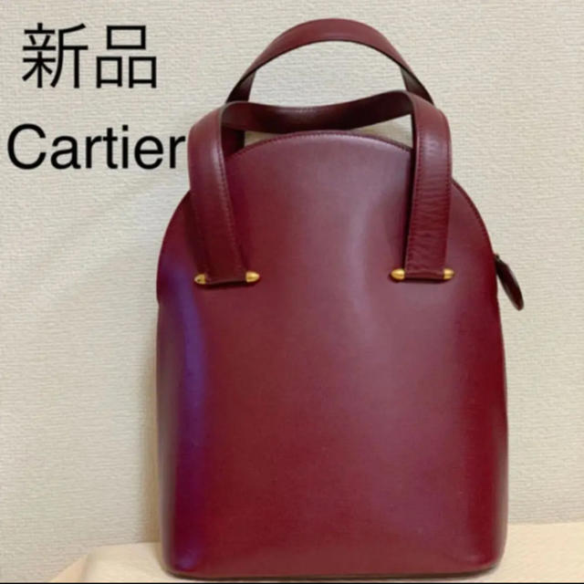 more photos 39699 d2bd1 新品 Cartier カルティエ トートバッグ ワインレッド | フリマアプリ ラクマ