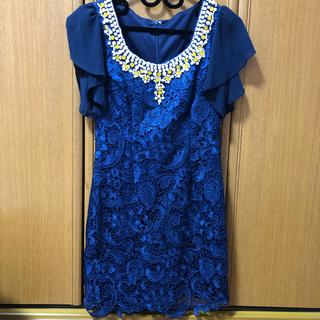 デイジーストア(dazzy store)のキャバドレス ビジュー 花柄 レース Sugar dazzy Jewels(ミニドレス)