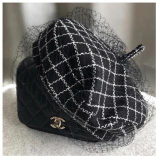 ザラ(ZARA)の新品未使用♡チュールベレー帽♡チェック (ハンチング/ベレー帽)