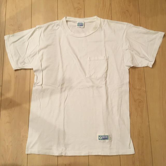 DISCUS(ディスカス)の半袖 Tシャツ ホワイト ビンテージ discus L ポケットTシャツ メンズのトップス(Tシャツ/カットソー(半袖/袖なし))の商品写真