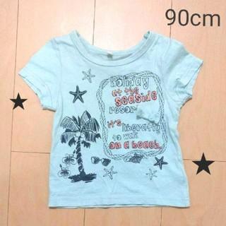 シマムラ(しまむら)の【K17】綿100% プリント Tシャツ*90cm*(Tシャツ/カットソー)