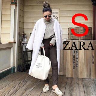 ザラ(ZARA)の土日限定!特価!入手困難!コントラストテクスチャー入りリバーシブルコート (ムートンコート)