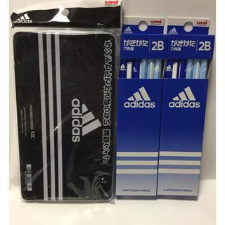 アディダス(adidas)の三菱鉛筆 アディダス 色鉛筆 12色セットかきかたえんぴつ 2B 2ダース(鉛筆)