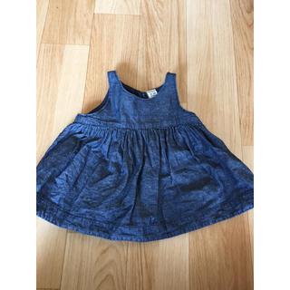 ベビーギャップ(babyGAP)のベビーギャップ 女の子 デニム調 トップス 美品(Tシャツ/カットソー)