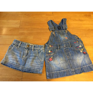 ベビーギャップ(babyGAP)のベビーギャップ デニムジャンパースカート +スカート(ワンピース)