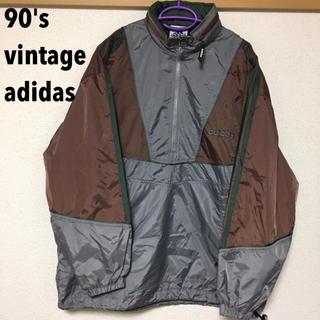 アディダス(adidas)の【90's】アディダス ハーフジップ ナイロンジャケット(ナイロンジャケット)