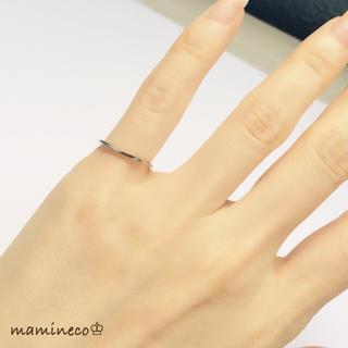 4号サイズ ステンレス製 シルバー色リング  カットタイプ 指輪(リング(指輪))