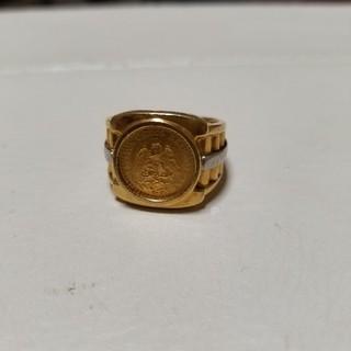 Dos コインリング 18金 プラチナ(リング(指輪))
