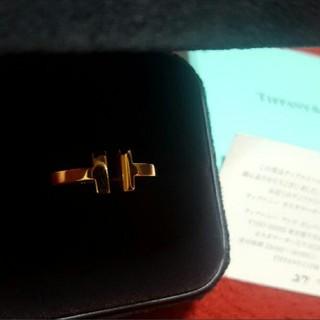 ティファニー(Tiffany & Co.)のティファニー スクエアリング 18K ローズゴールド(リング(指輪))