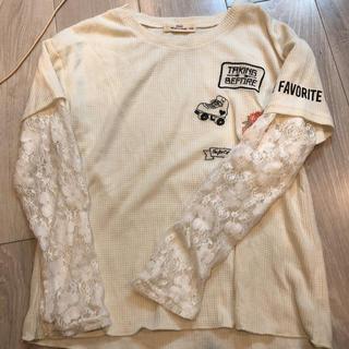 シマムラ(しまむら)の袖レースロンT150(Tシャツ/カットソー)