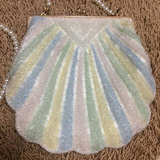 貝殻の袋 手作り vintage