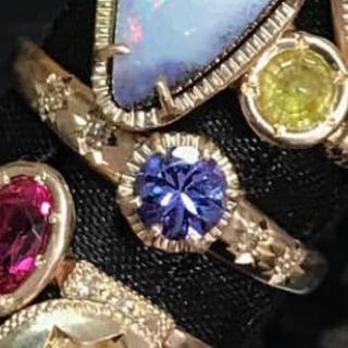 アッシュペーフランス(H.P.FRANCE)のtatsuo nagahata / タンザナイト × ダイヤ リング(リング(指輪))
