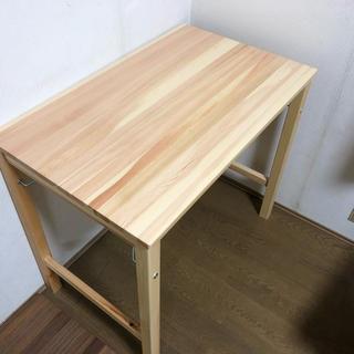 ムジルシリョウヒン(MUJI (無印良品))のパイン材テーブル・折りたたみ式 幅80×奥行50×高さ70cm.(折たたみテーブル)