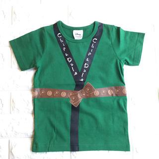 チップアンドデール(チップ&デール)の【 110 】チップ & デール はっぴ風 半袖 Tシャツ ディズニー 緑(Tシャツ/カットソー)