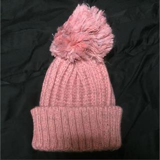 エイチアンドエム(H&M)の【新品】ピンク ニット帽(ニット帽/ビーニー)