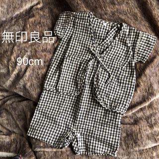 ムジルシリョウヒン(MUJI (無印良品))の無印良品 甚平 ロンパース 90cm(甚平/浴衣)