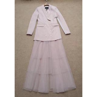 ビーシービージーマックスアズリア(BCBGMAXAZRIA)の2019新作BCBGマックスアズリアジャケットスカート2点セット(ロングドレス)