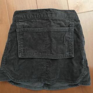 スキップランド(Skip Land)のフロントビッグポケット コーデュロイスカート 80(スカート)