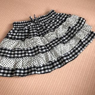 西松屋 - チェック ドット柄スカート 100