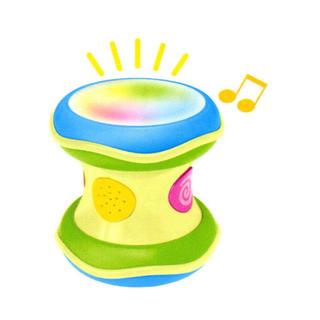 コンビ(combi)のコンビ 光るにぎやかドラム(楽器のおもちゃ)