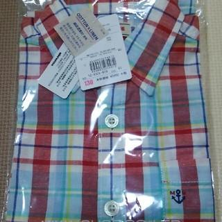 ミキハウス(mikihouse)の新品 ミキハウス 130 チェック 半袖シャツ(Tシャツ/カットソー)