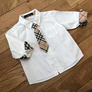 バーバリー(BURBERRY)のBURBERRY ネクタイ付きシャツ 80(セレモニードレス/スーツ)